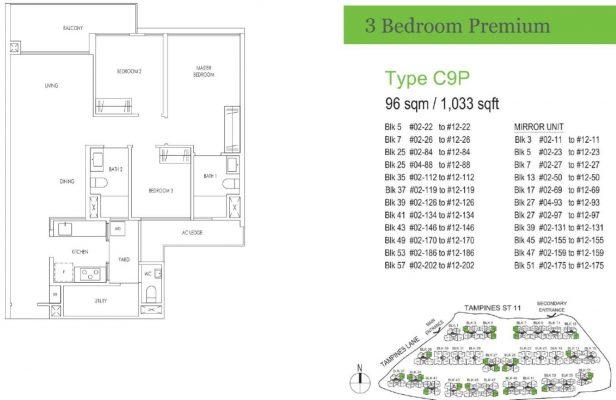 Treasure at Tampines Floor Plan C9P
