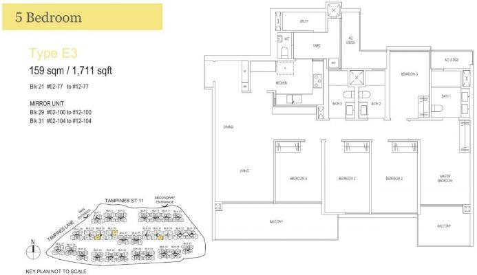 Treasure at Tampines Floor Plan E3