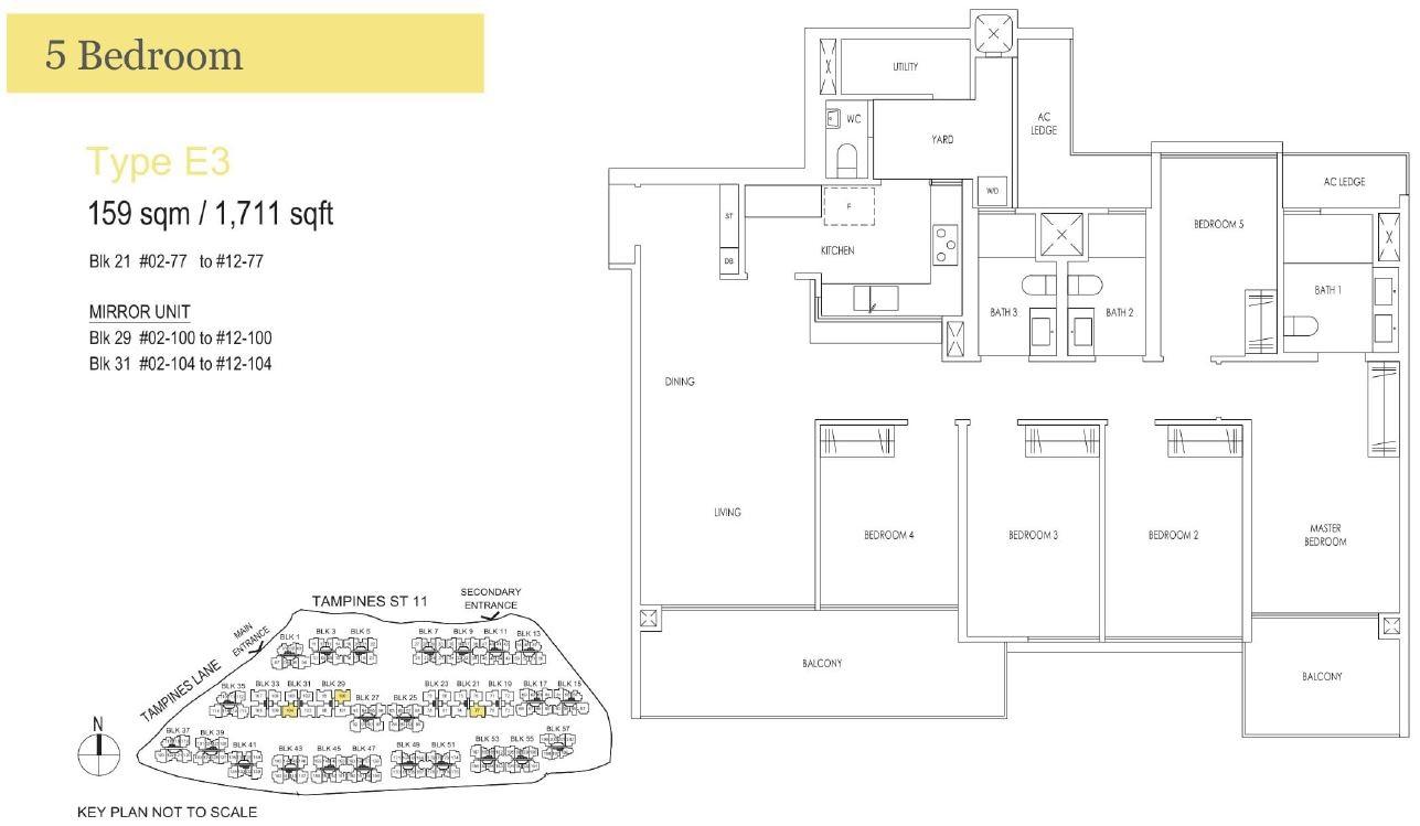Treasureattampines Floorplan E3 Treasure At Tampines